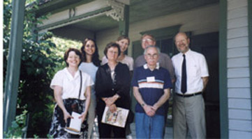 Members visiting the Sinclair Lewis Boyhood Home in 2000